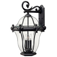 Hinkley Lighting San Clemente 4 Light Outdoor Wall Lantern in Museum Black 2446MB