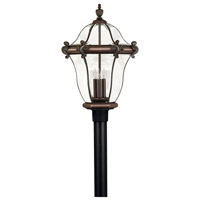 San Clemente 3 Light 27 inch Copper Bronze Post Lantern, Post Sold Separately