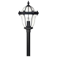 Hinkley 2447MB San Clemente 3 Light 26 inch Museum Black Outdoor Post Mount, Post Sold Separately