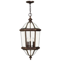 Augusta 3 Light 13 inch Copper Bronze Outdoor Hanging Lantern