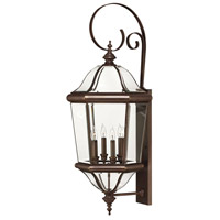 Hinkley Lighting Augusta 4 Light Outdoor Wall Lantern in Copper Bronze 2456CB