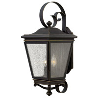 Lincoln 3 Light 23 inch Oil Rubbed Bronze Outdoor Wall Mount, Clear Seedy Glass