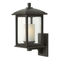 Hinkley Lighting Stanton 1 Light Outdoor Wall Lantern in Oil Rubbed Bronze with Clear Glass 2470OZ-LED