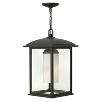 Hinkley Lighting Stanton 1 Light Outdoor Hanging Lantern in Oil Rubbed Bronze with Clear Glass 2472OZ-LED