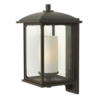 Hinkley Lighting Stanton 1 Light Outdoor Wall Lantern in Oil Rubbed Bronze with Clear Glass 2475OZ-LED