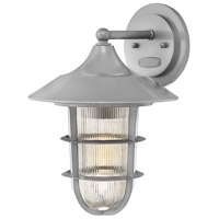 Marina 1 Light 15 inch Hematite Outdoor Wall Mount