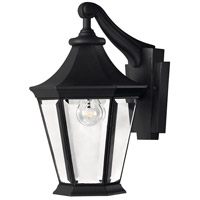Senator 1 Light 14 inch Black Outdoor Wall Mount