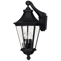 Senator 3 Light 22 inch Black Outdoor Wall Mount