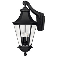 Hinkley 2505BK Senator 3 Light 26 inch Black Outdoor Wall Lantern