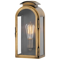 Hinkley 2520LS Rowley 1 Light 13 inch Light Antique Brass Outdoor Wall Mount