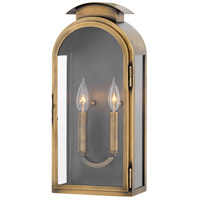 Hinkley 2524LS Rowley 2 Light 18 inch Light Antique Brass Outdoor Wall Mount