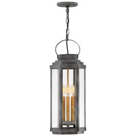 Hinkley 2532DZ Danbury 3 Light 9 inch Aged Zinc with Heritage Brass Accents Outdoor Hanging Lantern