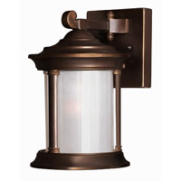 Hinkley Lighting Hanna 1 Light Outdoor Wall Lantern in Metro Bronze 2540MT-DS photo thumbnail