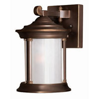 Hinkley Lighting Hanna 1 Light Outdoor Wall Lantern in Metro Bronze 2540MT photo thumbnail