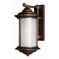 Hinkley Lighting Hanna 1 Light Outdoor Wall Lantern in Metro Bronze 2544MT-ES photo thumbnail