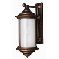 Hinkley Lighting Hanna 1 Light Outdoor Wall Lantern in Metro Bronze 2545MT-ESDS