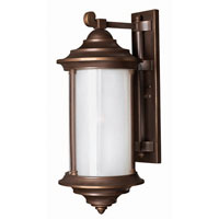 Hinkley Lighting Hanna 1 Light Outdoor Wall Lantern in Metro Bronze 2545MT