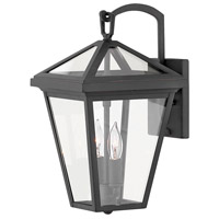 Alford Place 2 Light 14 inch Museum Black Outdoor Wall Mount