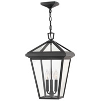 Alford Place 3 Light 12 inch Museum Black Outdoor Hanging