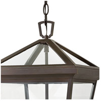 Hinkley 2562OZ Alford Place 3 Light 12 inch Oil Rubbed Bronze Outdoor Hanging Light in Incandescent, Open Air alternative photo thumbnail