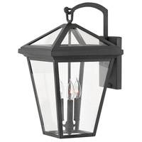 Alford Place 3 Light 21 inch Museum Black Outdoor Wall Mount