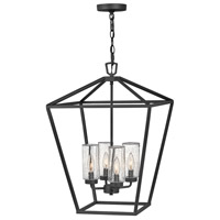 Hinkley 2567MB Alford Place 4 Light 17 inch Museum Black Outdoor Hanging Light in Incandescent Open Air