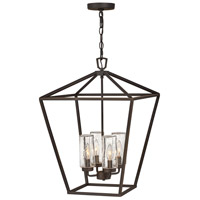 Hinkley 2567OZ Open Air Alford Place 4 Light 17 inch Oil Rubbed Bronze Outdoor Hanging Light in Incandescent