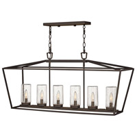 Hinkley 2569OZ Open Air Alford Place 6 Light 40 inch Oil Rubbed Bronze Outdoor Hanging Light in Incandescent
