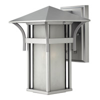 Hinkley 2570TT-GU24 Harbor 1 Light 11 inch Titanium Outdoor Wall in Etched Seedy, GU24, Seedy Glass