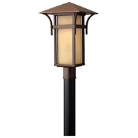 Hinkley 2571AR-LED Harbor 1 Light 20 inch Anchor Bronze Post Lantern in Etched Amber Seedy, LED, Seedy Glass, Post Sold Separately
