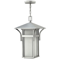 Hinkley 2572TT Harbor 1 Light 11 inch Titanium Outdoor Hanging Light in Etched Seedy, Incandescent