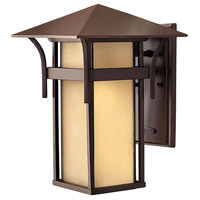 Hinkley 2574AR Harbor 1 Light 14 inch Anchor Bronze Outdoor Wall Lantern in Etched Amber Seedy, Incandescent