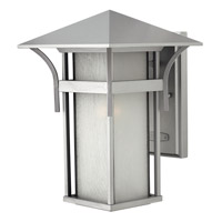 Hinkley 2574TT-GU24 Harbor 1 Light 14 inch Titanium Outdoor Wall in Etched Seedy, GU24, Seedy Glass