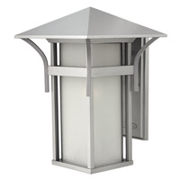 Hinkley 2575TT-GU24 Harbor 1 Light 16 inch Titanium Outdoor Wall in Etched Seedy, GU24, Seedy Glass