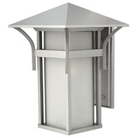 Hinkley 2575TT Harbor 1 Light 16 inch Titanium Outdoor Wall Lantern in Etched Seedy, Incandescent