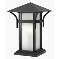 Hinkley Lighting Harbor 1 Light Pier Mount Lantern in Satin Black 2576SK-ES