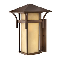 Hinkley 2579AR-GU24 Harbor 1 Light 21 inch Anchor Bronze Outdoor Wall in Etched Amber Seedy, GU24, Seedy Glass