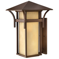 Harbor LED 21 inch Anchor Bronze Outdoor Wall Lantern in Etched Amber Seedy