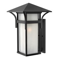 Hinkley Lighting Harbor 1 Light Outdoor Wall Lantern in Satin Black 2579SK-ES