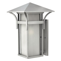 Hinkley 2579TT-GU24 Harbor 1 Light 21 inch Titanium Outdoor Wall in Etched Seedy, GU24, Seedy Glass