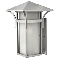 Harbor LED 21 inch Titanium Outdoor Wall Lantern in Etched Seedy