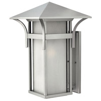 Hinkley 2579TT Harbor 1 Light 21 inch Titanium Outdoor Wall Mount in Etched Seedy, Incandescent