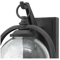 Hinkley 2614DZ-LED Quincy LED 14 inch Aged Zinc Outdoor Wall Mount, Seedy Outer Glass alternative photo thumbnail