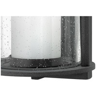 Hinkley 2615DZ Quincy 1 Light 17 inch Aged Zinc Outdoor Wall Mount in Incandescent, Seedy Outer Glass alternative photo thumbnail