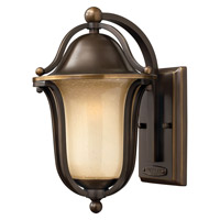 Hinkley Lighting Bolla 1 Light Outdoor Wall Lantern in Olde Bronze with Light Amber Seedy Glass 2630OB-LED