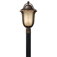 Hinkley Lighting Bolla 1 Light Post Lantern in Olde Bronze with Light Amber Seedy Glass 2631OB-LED