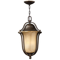 Bolla 3 Light 11 inch Olde Bronze Outdoor Hanging Lantern in Light Amber Seedy, Incandescent