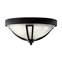 Hinkley Lighting Bolla 1 Light GU24 CFL Outdoor Flush Mount in Black 2633BK-GU24