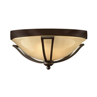Hinkley 2633OB-GU24 Bolla 1 Light 17 inch Olde Bronze Outdoor Flush Mount in GU24