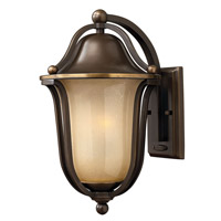 Hinkley Lighting Bolla 1 Light Outdoor Wall Lantern in Olde Bronze with Light Amber Seedy Glass 2634OB-LED